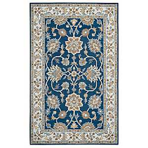 Blue Ashley Area Rug, 5x8