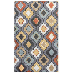 Bradberry Downs Gray Moroccan Area Rug, 5x8