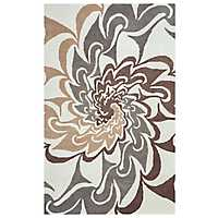 Bradberry Downs Neutral Swirl Area Rug, 5x8