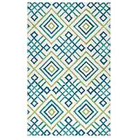 Pacific Views Blue Geometric Area Rug, 5x8