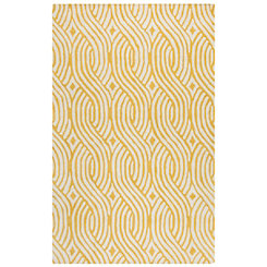 Julian Pointe Yellow Area Rug, 5x8