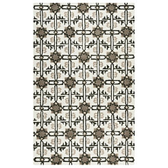Mesa Gray Geometric Area Rug, 5x8