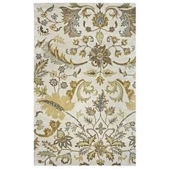 Volare Beige Floral Area Rug, 5x8