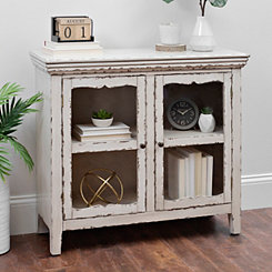 Distressed Cream 2-Door Cabinet