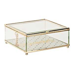 Gold Dreamer Glass Jewelry Box