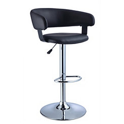 Black Mod Faux Leather Bar Stool
