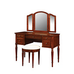 Warm Cherry Vanity Set