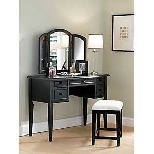 Antique Black Vanity Set