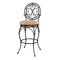 Scrolled Circle Back Metal Bar Stool