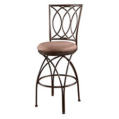 Crossed Legs Metal Bar Stool