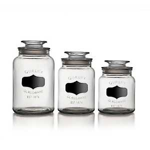 Chalkboard Label Canisters, Set of 3
