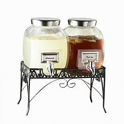 Williamsburg Beverage Dispenser Set With Stand