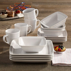 Square White Madelyn 16-pc. Dinnerware Set