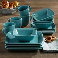 Square Turquoise Madelyn 16-pc. Dinnerware Set