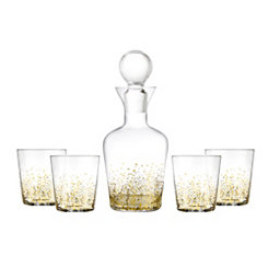 Gold Luster 5-pc. Decanter Set