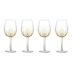 Gold Luster Goblets, Set of 4