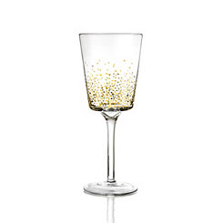 Gold Luster White Wine Glasses, Set of 4