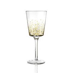 Gold Luster White Wine Glasses, Set of 4