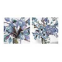 Soft Blues Centerpiece Canvas Art Prints, Set of 2
