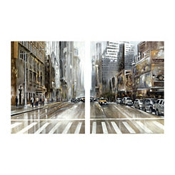 Rush Hour Part I Canvas Art Prints, Set of 2