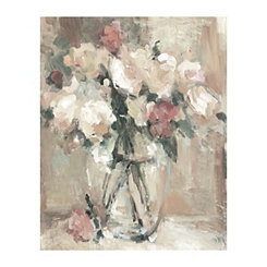 Clear Glass Pastel Canvas Art Print