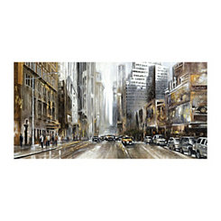Rush Hour Panel Canvas Art Print