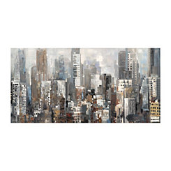 City Silhouettes Canvas Art Print