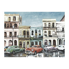 Cuban Colors I Vintage Canvas Art Print