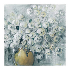 Gray Cultivated Canvas Art Print