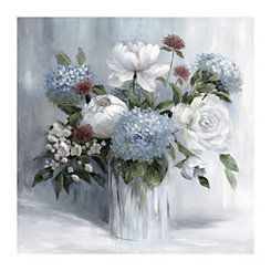 Soft Blue Arrangement Canvas Art Print