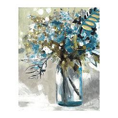Teal Maison Jardin I Canvas Art Print