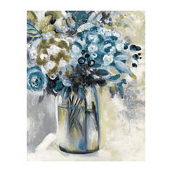 Teal Maison Jardin II Canvas Art Print