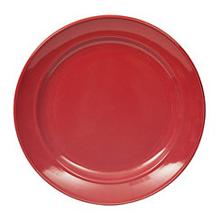 Red Bologna Dinner Plate