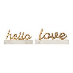 Gold Love Marble Word Block