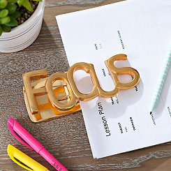 Gold Focus Paper Clip