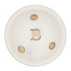 Gold Dot Stone Monogram B Trinket Tray