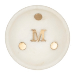 Gold Dot Stone Monogram Trinket Trays