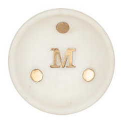 Gold Dot Stone Monogram M Trinket Tray