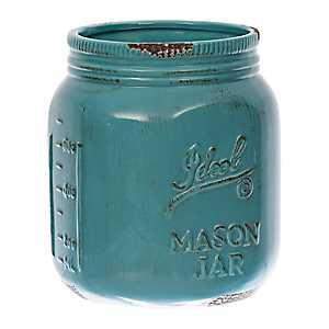 Turquoise Ideal Mason Jar Utensil Holder