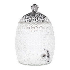 Silver Pineapple Beverage Dispenser