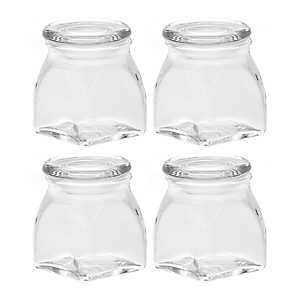 Glass Spice Jars, Set of 4