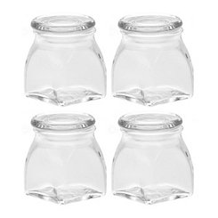 Glass Spice Jars, Set of 4