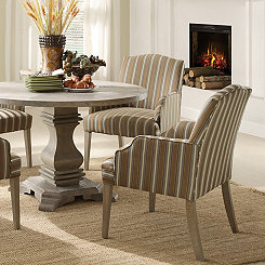 Weathered Stripe Rustic Dining Chair, Set of 2