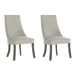 Soft Gray Dining Chair, Set of 2