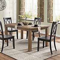 Country Black Criss-Cross Dining Chairs, Set of 2