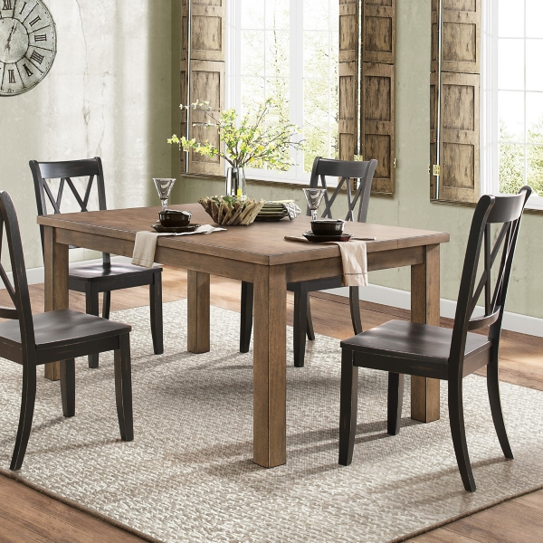 Country Black Criss Cross Dining Chairs, Set Of 2