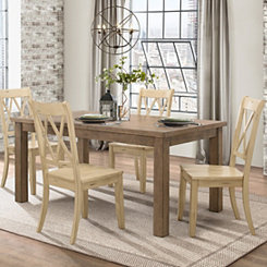 Buttermilk Criss-Cross Dining Chairs, Set of 2