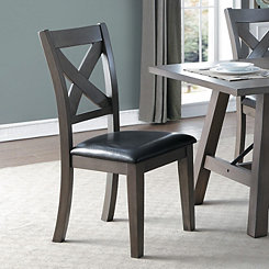 Rustic X-Back Dining Chair, Set of 2