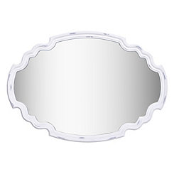 Backstage Antique White Framed Wall Mirror