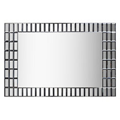 Modern Glass Framed Wall Mirror